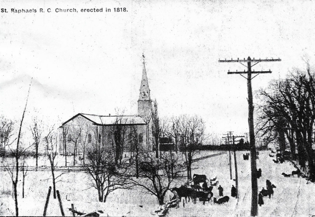 Winter at St. Raphael's Early in the Century